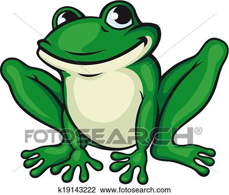 Clipart grand grenouille verte k19143222 recherchez des clip arts des illustrations des - Dessin de grenouille verte ...