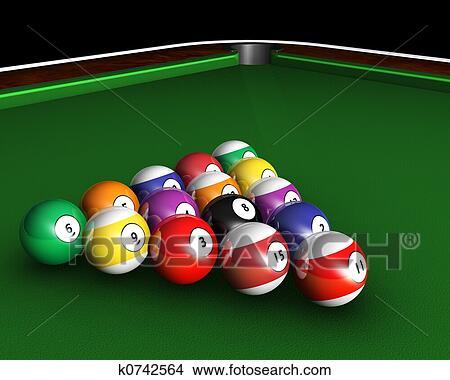 Pool balls drawing