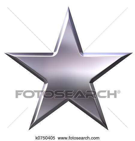 Stock Illustration of Silver Star k0750405 - Search Clipart ...