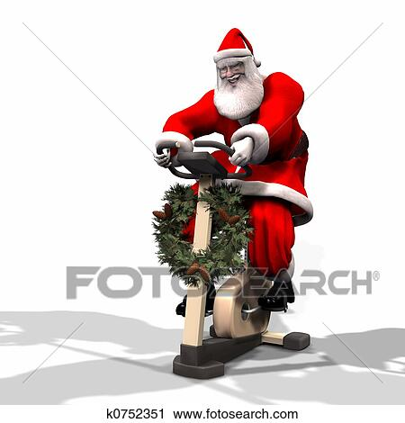 Clipart of Santa Fitness 2 k0752351 - Search Clip Art ...