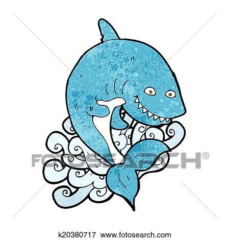 - 卡通, 鲨鱼