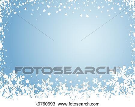 Dessin - flocon de neige, fond k0760693 - Recherchez des Cliparts, des ...