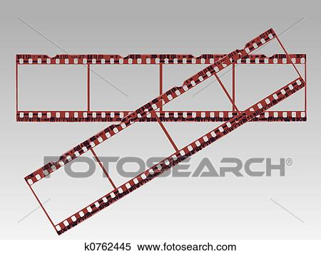 Stock illustration transparent film strips in vector format