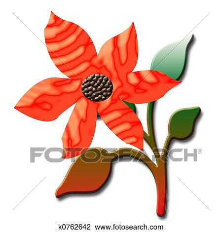 剪贴画 - 桔子花, 3d图片