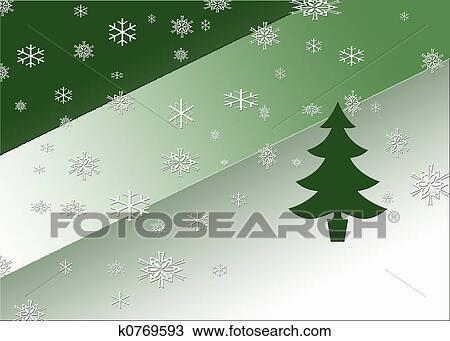 手绘图 - 雪, 同时,, 树