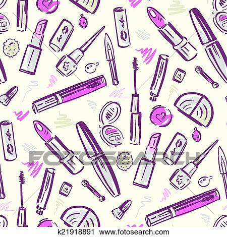 Clipart Of Beauty Products Cosmetics K21918891