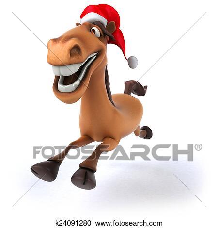 stock illustrationen spa weihnachten pferd k24091280. Black Bedroom Furniture Sets. Home Design Ideas