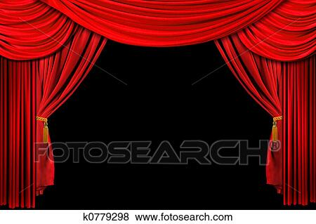 Pictures Of Red Draped Stage Background K0779298 Search