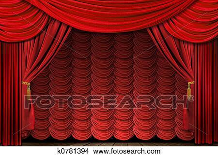 Stock foto alt gestaltet elegante rot theater buehne for Elegante wandbilder