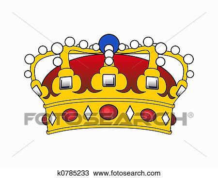 手绘图 - 王冠, 描述