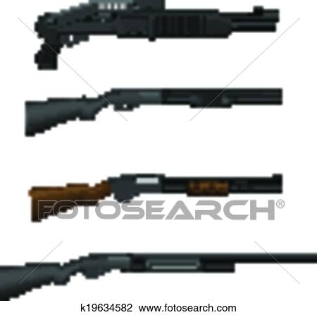 Clipart of Shotgun k19634582 - Search Clip Art ...