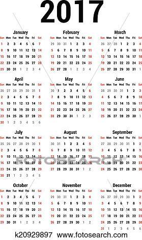 Clip Art - Calendar 2017