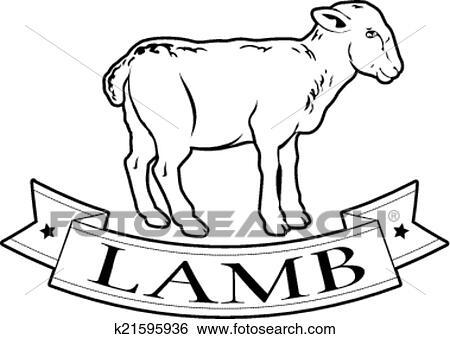 Clip Art of Lamb food label k21595936 - Search Clipart ...