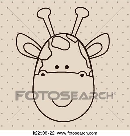 可爱动物边框简笔画