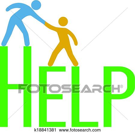 clipart of people step up find support help answer k18841381 rh fotosearch com support clip art free support clipart