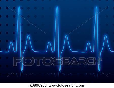Heartbeat Line Art : Stock illustration of heartbeat glow k search clip art