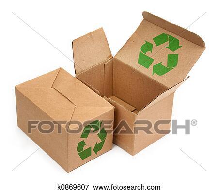 Immagine scatole cartone con riciclare simbolo - Riciclare scatole ...
