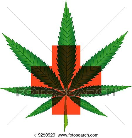 Clip Art of Marijuana for medical use k19250929 - Search Clipart ...