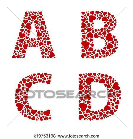 Printable Heart Love Letter Alphabets  Alphabet Letters Org