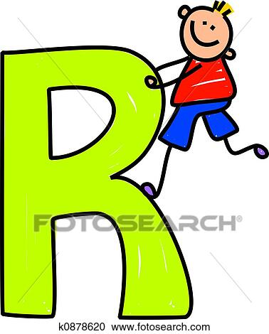 stock illustrations of letter r boy k0878620 search clipart rh fotosearch com capital letter r clipart capital letter r clipart