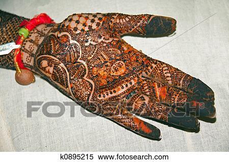 Henna Mehndi Vector : Stock illustration of henna tattoo on hands k0895215 search
