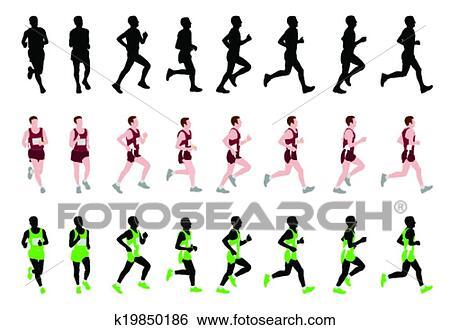 剪贴画 - 马拉松, 跑的人. fotosearch - 搜寻图样,绘画,制图及影像图片