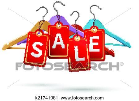 Kleiderständer clipart  Clipart - kleiderständer, verkauf, etiketten k21741081 - Suche ...