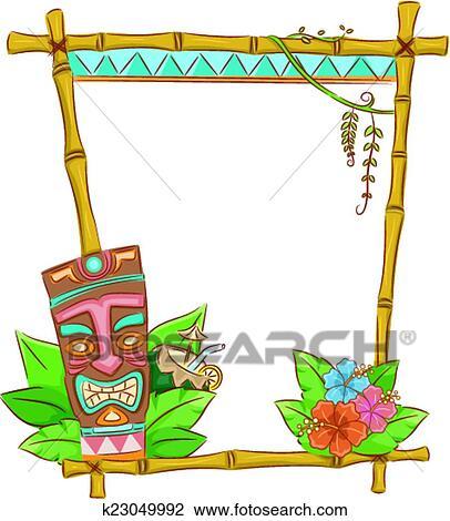 clipart of tiki frame k23049992 search clip art illustration rh fotosearch com tiki clip art free downloads tiki torch clipart