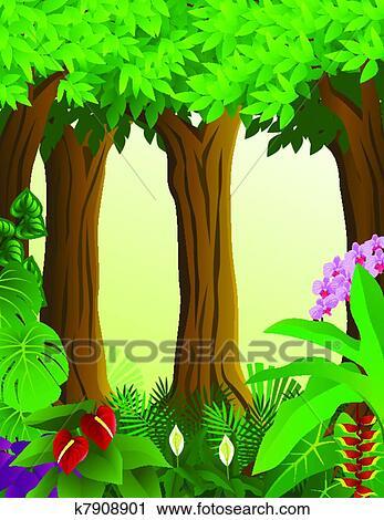 森林, 背景 剪贴画