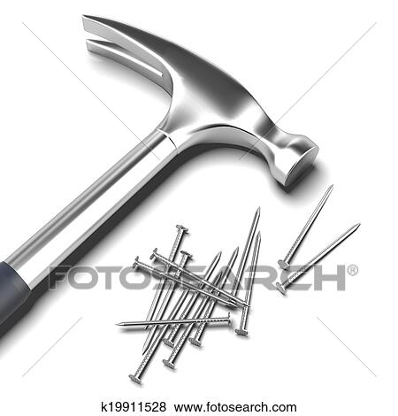 Stock Illustration of Hammer and nail k19911528 - Search ...