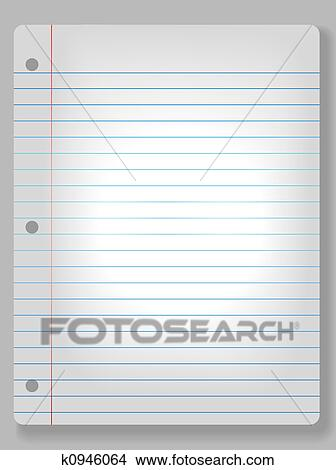Drawings of Spotlight Notebook Paper Background k0946064 - Search ...