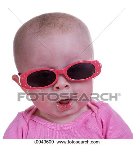 Baby With Sunglasses  stock photograph of baby wearing sunglasses k0949609 search