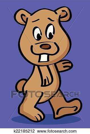 Clipart rigolote grizzly dent vecteur dessin - Dessin de grizzly ...