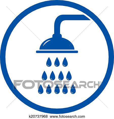 shower head clipart. Clip Art - Shower Head Icon. Fotosearch Search Clipart, Illustration Posters, Drawings Clipart R