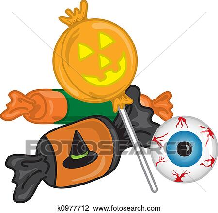 Clip Art of Halloween candy k0977712 - Search Clipart ...