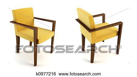 Banque d 39 illustrations moderne chaise 3d rendre for Chaise 3d dessin