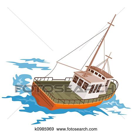 Clip Art Fishing Boat Clipart clip art of fishing boats k15963559 search clipart illustration boat
