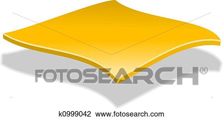 clip art of cheese slice k0999042 search clipart illustration rh fotosearch com cheese pizza slice clip art sliced cheese clip art