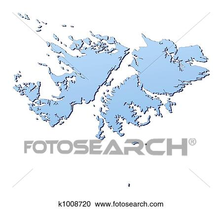 Stock Illustrations of Falkland Islands map k1008720 Search
