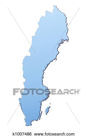 Stock Illustration Of Sweden Map K Search Clip Art - Sweden map search