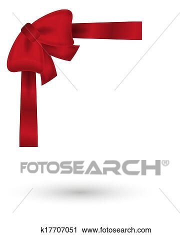 Clipart rot elegante schleife k17707051 suche clip for Elegante wandbilder