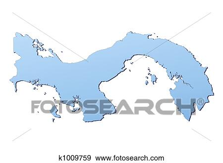 Stock Illustration Of Panama Map K Search Vector Clipart - Panama map vector
