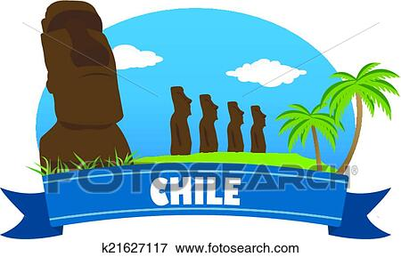 clip art of chile tourism and travel k21627117 search clipart rh fotosearch com traveling clipart traveling clipart