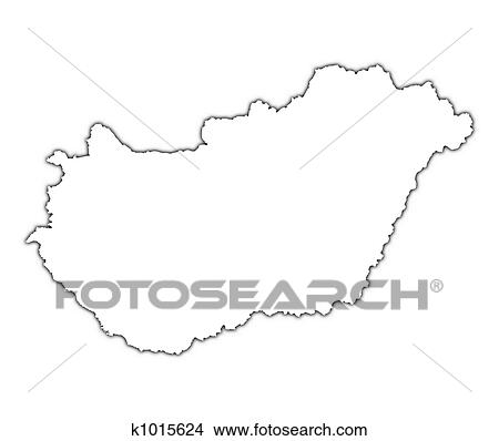 Drawings Of Hungary Outline Map K Search Clip Art - Hungary blank map
