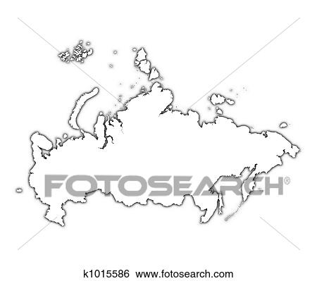 Stock Illustration of Russia outline map k1015586 Search Clip