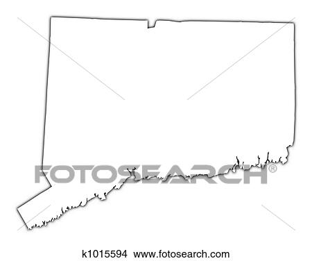 Drawings Of Connecticut USA Map K Search Clip Art - Connecticut map usa