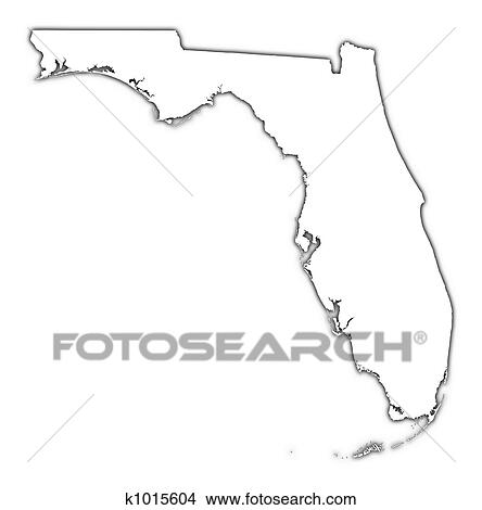Drawings Of Florida USA Outline Map K Search Clip Art - Usa map eps