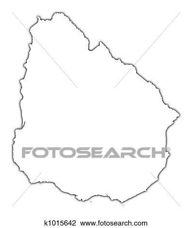 Clip Art Of Uruguay Outline Map K Search Clipart - Uruguay blank map
