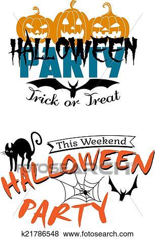 clip art of halloween party invitation k21786548 search clipart rh fotosearch com halloween party invitation clipart halloween costume party clipart