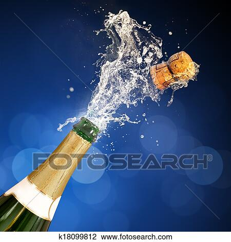 stock foto champagner knallen flasche k18099812 suche stockfotografie fotodrucke fotos. Black Bedroom Furniture Sets. Home Design Ideas